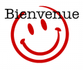 smiley rouge bienvenue